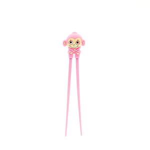 Pink Kid's Monkey Helper Chopstick
