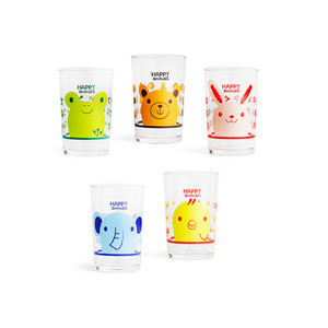 Cute Animal Glass Cups or Tumbler Set - 6oz
