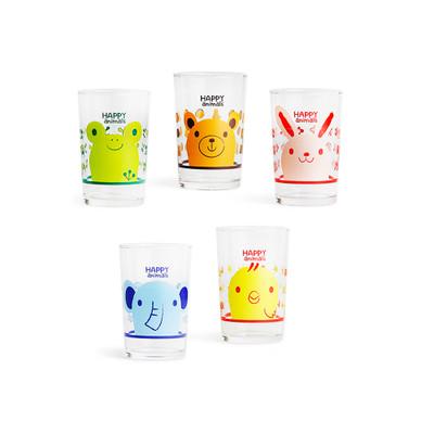 Cute Animal Glass Cups or Tumbler Set - 6oz