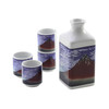 Find Wind Clear Morning Square Bottle Sake Set
