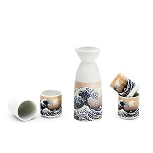 The Great Wave Off Kanagawa Sake Set