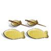 Fish Plate & Sauce Bowl Set - Yellow