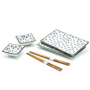 Spring Floral Sushi Plate Set