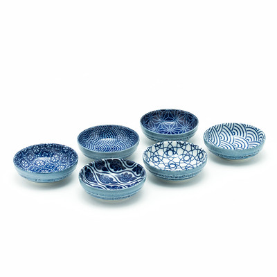 Japanese Blue Pattern Sauce Dish Set