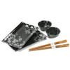 Cherry Blossom Sushi Plate Set - Black