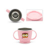 Edison Owl Non-Slip Double Handle Cup - Pink