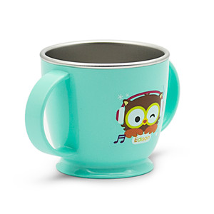 Edison Owl Non-Slip Double Handle Cup - Blue