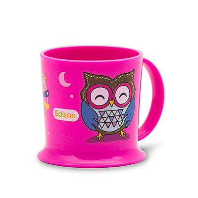 Edison Easy Drink Owl Mug - Pink 7oz