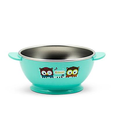 Edison Owl Non-Slip Rice Bowl - Blue 8oz