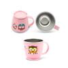 Edison Owl Non-Slip Mug - Pink 8oz