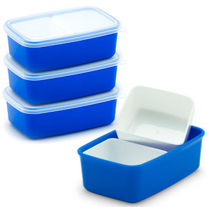 Bento Side Dish Container (4 Count) - Blue