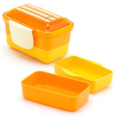2-Tier Bento Lunch Box - Orange