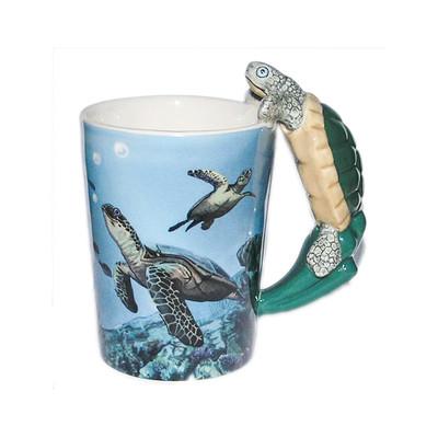 Turtle Shaped 3D Handle Mug