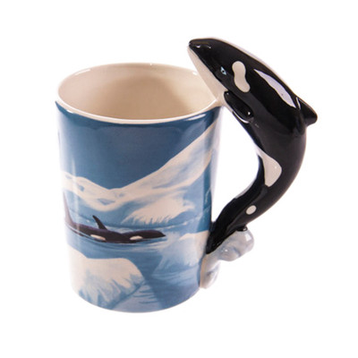 Killer Whale Shaped 3D Handle Mug