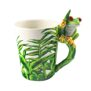 Treefrog Shaped 3D Handle Mug