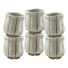 Sand Gray Thin Stripe Teacup 6pcs