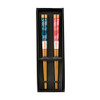 His & Hers Asian Wave Wooden Chopstick Set in giftbox