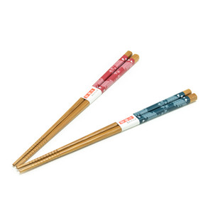 His & Hers Asian Wave Wooden Chopstick Set