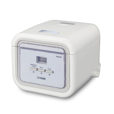 Tiger Micom Rice Cooker with Slow Cooker & Bread Maker - White
