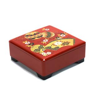 Japanese Lacquer Bento Box Tier – Kemari Red