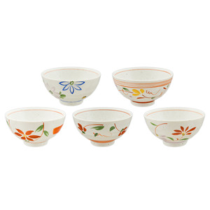 Earthen Flower Assorted Rice Bowl Set