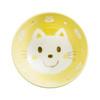 Kids Spring Porcelain Dinner Set-Yellow Cat: Rice Bowl Top
