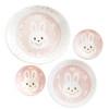 Kids Spring Porcelain Dinner Set-Pink Rabbit