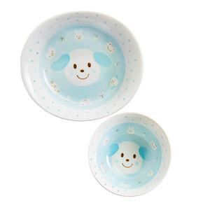 Kids Spring Porcelain Dinner Set-Blue Dog