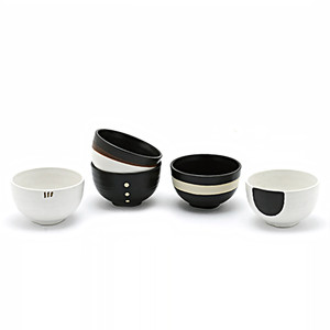 Zen Black & White Bowl Set 5pc (Assorted)