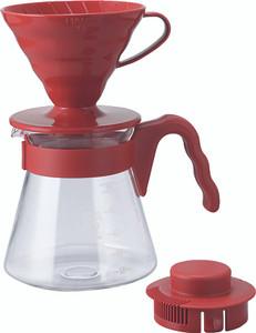 Hario V60 Coffee Server Set 02 - Red 700ml