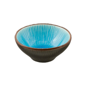 "Two Tone Reactive Glaze Blue Sauce Bowl 2.75""D, Set of 4"