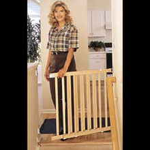 """Our Wood Slat Gates Fits Openings Up to 42"""" Wide"""