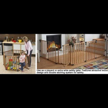 Wood Superyard/Extra Wide Safety Gate