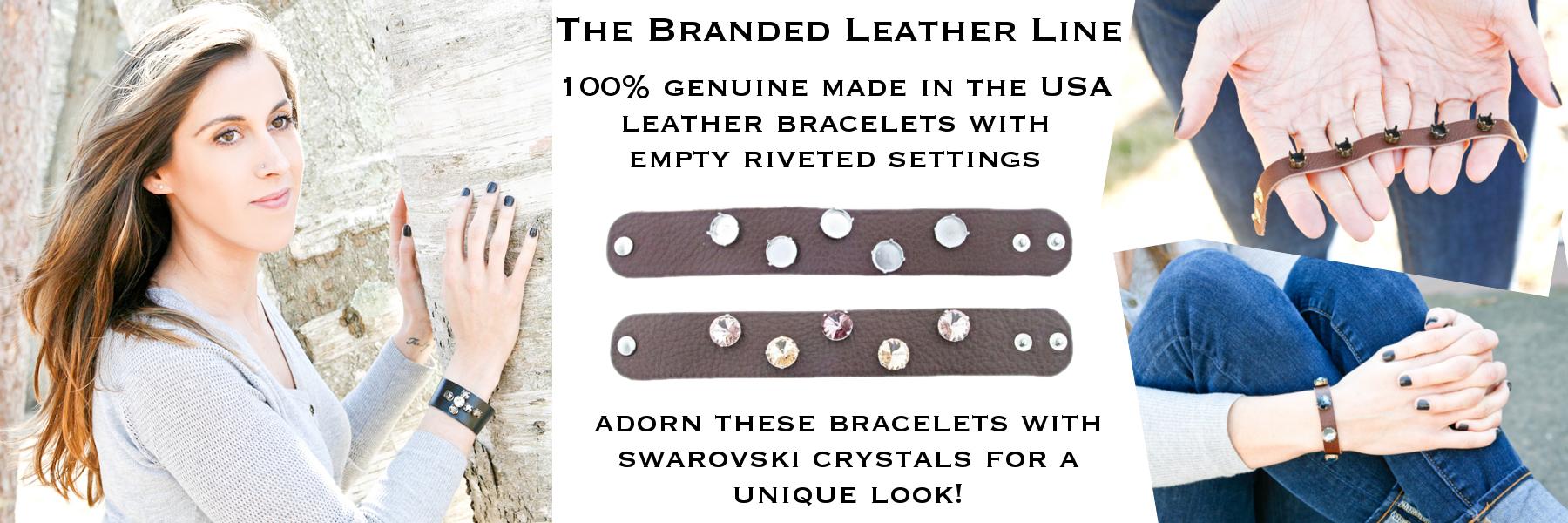 Branded Leather Line bracelets