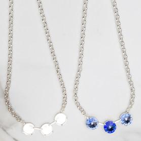 14mm Round | Three Setting Necklace | Three Pieces
