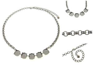 Empty 12mm Rivoli Round 5 Box Necklaces Smooth Rolo Chain
