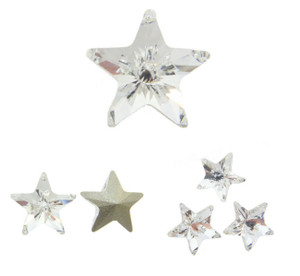 Swarovski Elements Article 4745 Fancy 10mm Star Crystal 12 Pieces cc