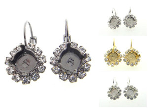 8.5mm (39ss) One Box Earrings With Crystal Rhinestones