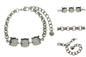 Empty 3 Box Bracelets Smooth Rolo Chain 11mm 48ss 3 Pieces