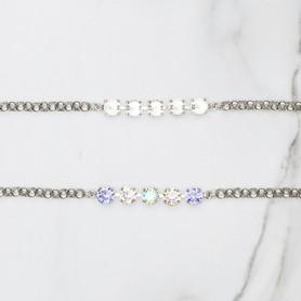 8.5mm   Classic Five Setting Bracelets   Three Pieces