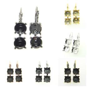 Premium European Empty Dangle Earrings 2 Box 8.5mm (39ss)