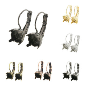 8.5mm (39ss) One Box Lever Back Empty Earrings 3 Pairs