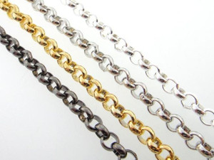 5mm Rolo Chain 3 Feet Lengths - Choose Finish