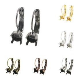 6mm (29ss) Lever Back Empty Earrings