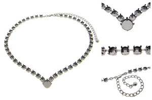Special Design Empty Necklaces Style 13 - 6mm (29ss) & 11mm Low Profile Rivoli 3 Pieces