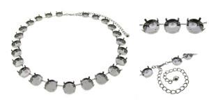 Empty 14mm Rivoli Round 24 Box Necklaces 3 Pieces