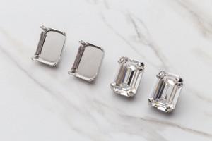 20mm x 15mm Octagon Stud Earrings