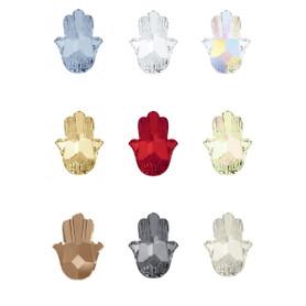 Swarovski Article 4778 Fatima Hand Fancy Stone Hamsa 18x13.7mm 3 Pieces - Choose Color