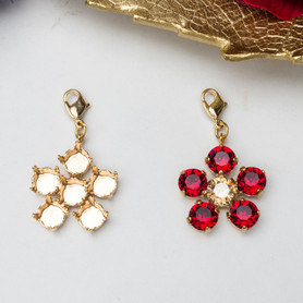 8.5mm | Six Setting Flower Necklace Enhancer | Three Pieces