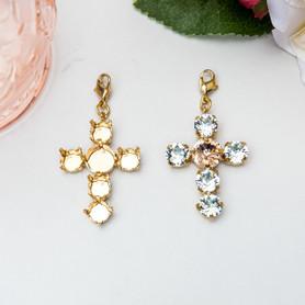 8.5mm & 11mm   Cross Necklace Enhancer   Three Pieces